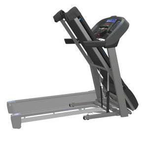 Folding view Horizon T101 the best folding treadmill with easy folding, bluetooth and charger