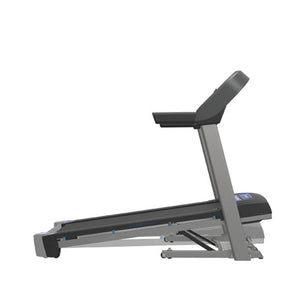 Side VIew Horizon T101 the best folding treadmill with easy folding, bluetooth and charger