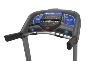 Console - Horizon T101 the best folding treadmill with easy folding, bluetooth and charger