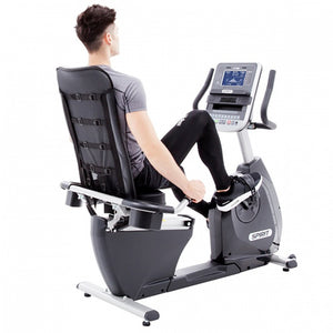 Spirit XB R55 Recumbent Bike back with model