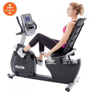 Spirit XBR55 Recumbent Bike side with model