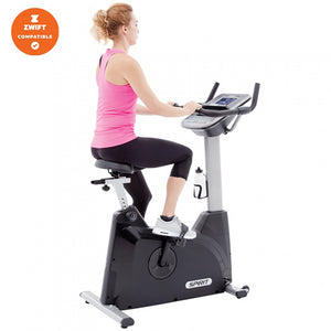 Spirit XBU55 Upright Bike with midel side view