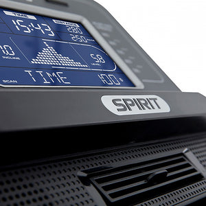 Spirit XE295 Elliptical console close up