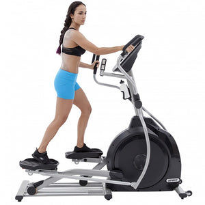 Spirit XE295 Elliptical with female model