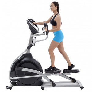 Spirit XE295 Elliptical with female model 2
