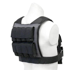 55lbs Adjustable Weighted Training Vest Back