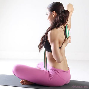 Back stretches using Yoga Strap Cotton 6 foot