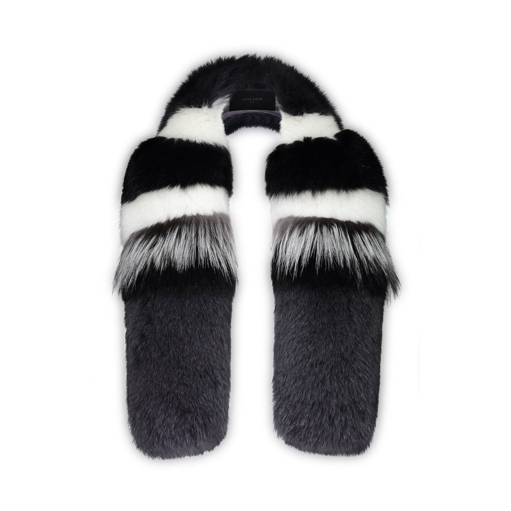 Foxy Collar - Black Striped - FURRY FURS