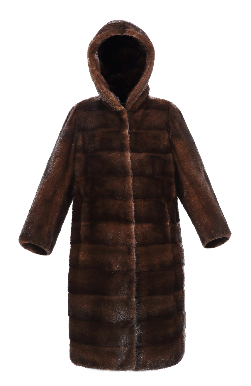 Monet Mink Hooded Coat - FURRY FURS