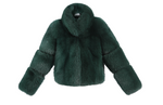 Cosi Coat - Emerald Green - FURRY FURS