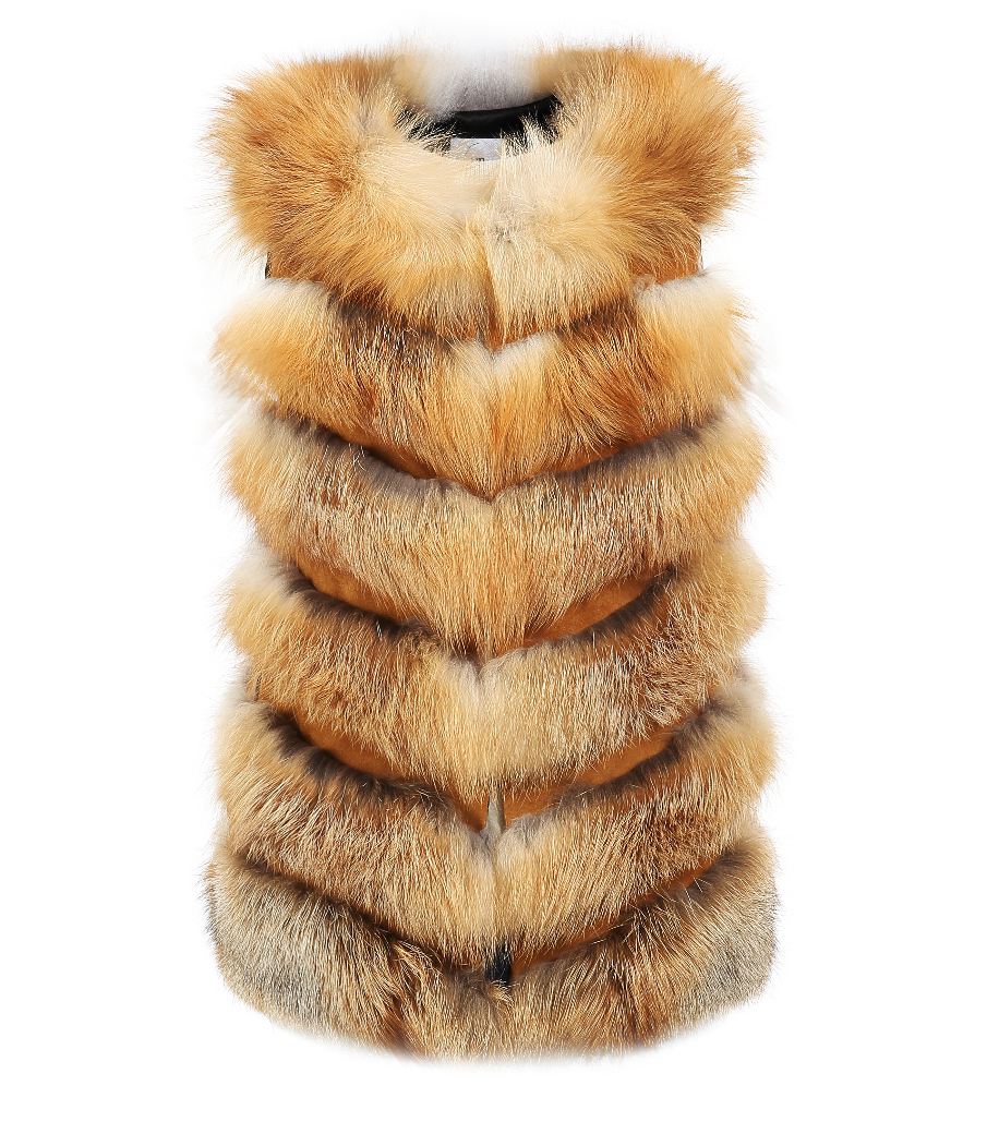 Adelle Gilet - Natural - FURRY FURS