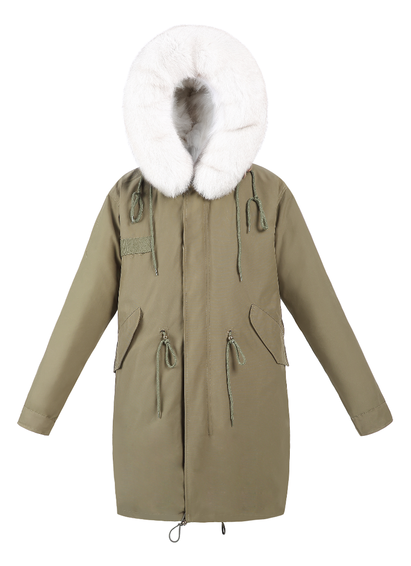 Classic Parka - Natural White Fox Lining - FURRY FURS