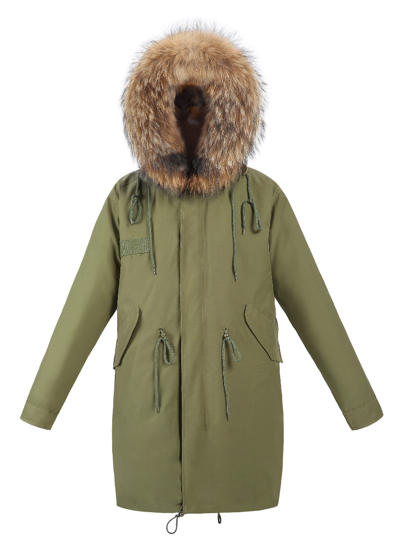 Classic Parka - Natural Fox Lining - FURRY FURS