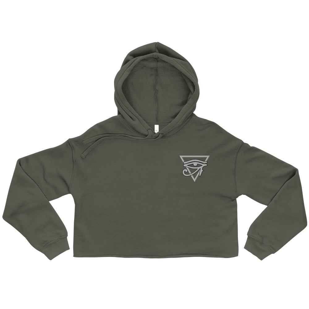 Crop Hoodie-women's shirts-Live&Enjoy Clothing
