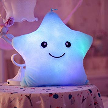 Glowbloom Luminous Soft Star Pillow.