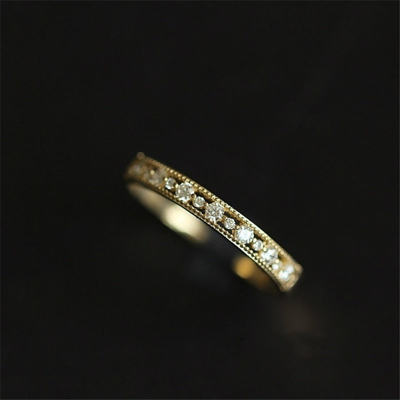 SLIM  ZIRCONIA CRYSTAL RING