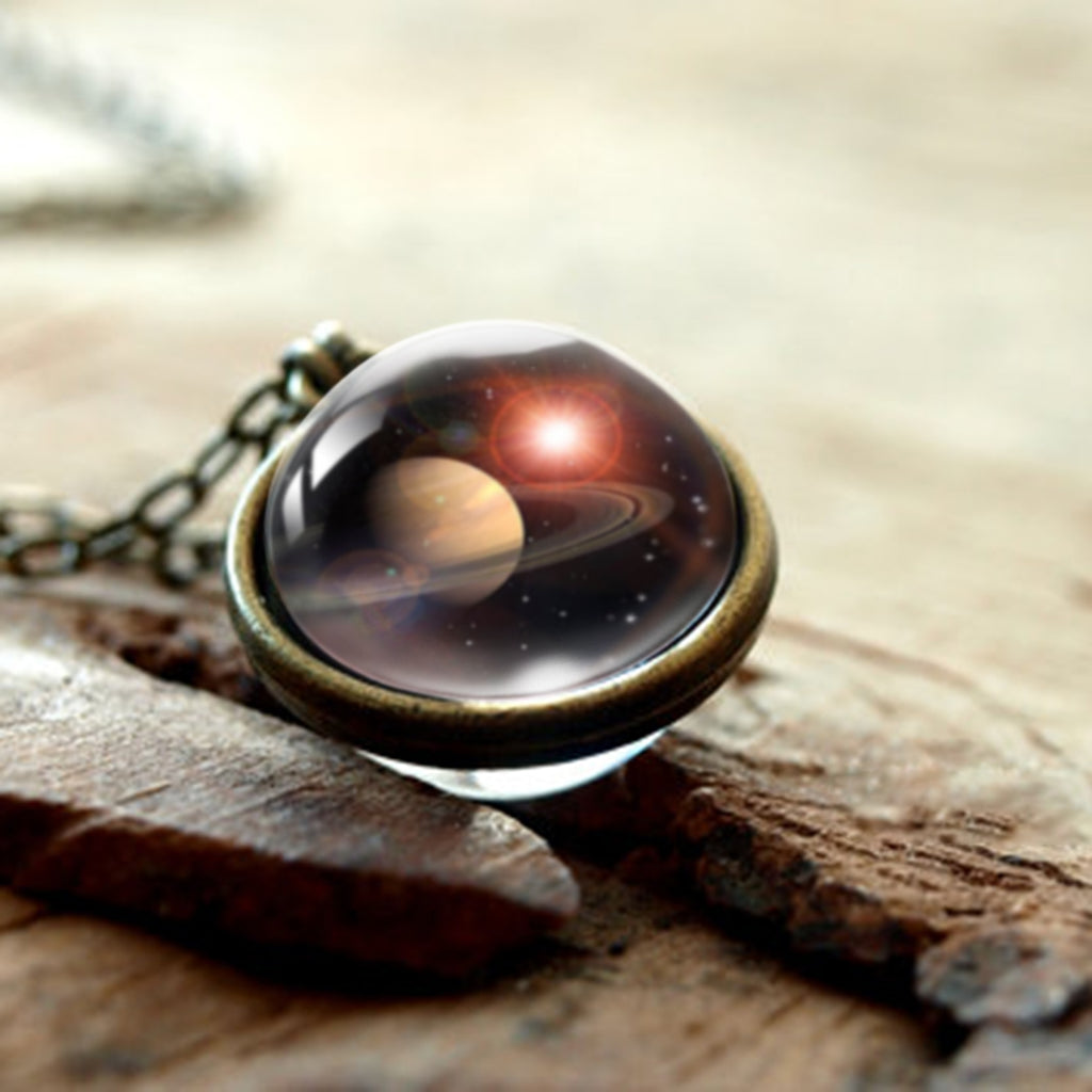 PLANET SATURN IN A NECKLACE