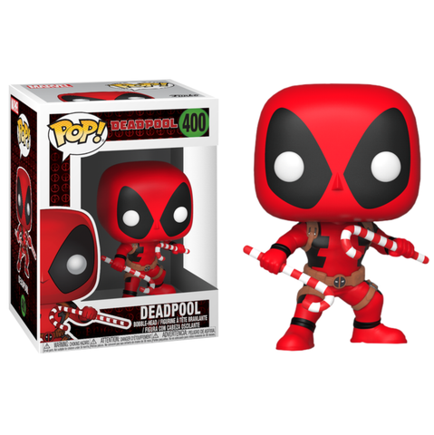 koolaz-ltd - Deadpool - Deadpool with Christmas Candy Canes Pop! Vinyl Figure - Funko - Pop Vinyl