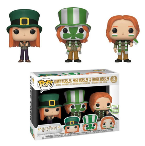 koolaz-ltd - Harry Potter - Ginny , Fred & George Weasley World Cup Pop! 3 Pack Vinyl Figure Covention Exclusive - Funko - Pop Vinyl