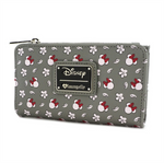 Loungefly x Disney Minnie Mouse Grey Print Bi-Fold Zipper Wallet