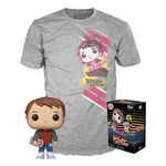 Back To The Future - Marty With Hoverboard Pop! & Tee Exclusive Box Set