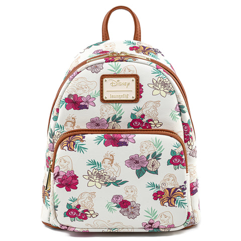 Disney x Loungefly  Disney Princess Floral AOP Mini Backpack