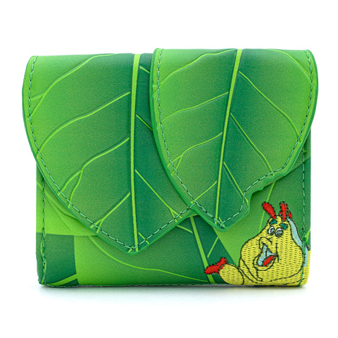 "Loungefly x Disney Pixar A Bug's Life Leaf 4"" Faux Leather Flap Wallet"