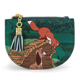 "Loungefly x The Fox and the Hound Peekaboo Log 4"" Faux Leather Card Holder"
