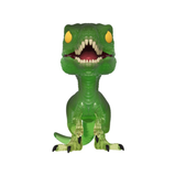 Jurassic Park - Clever Girl Velociraptor Green Translucent Pop! & Tee Collectors Box Set