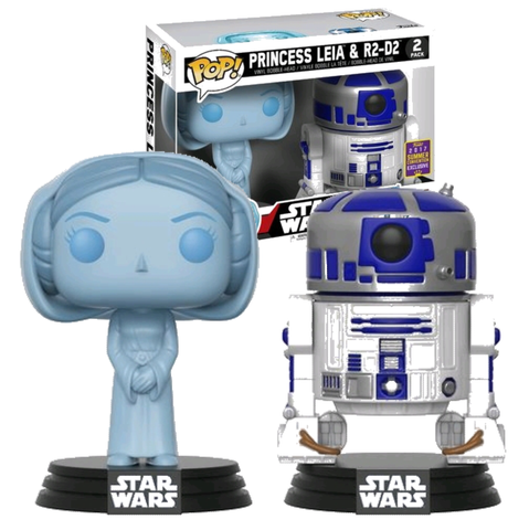 koolaz-ltd - Star Wars - Princess Leia & R2-D2 Pop! Vinyl 2-Pack  2017 SDCC Convention Exclusive - Funko - Pop Vinyl