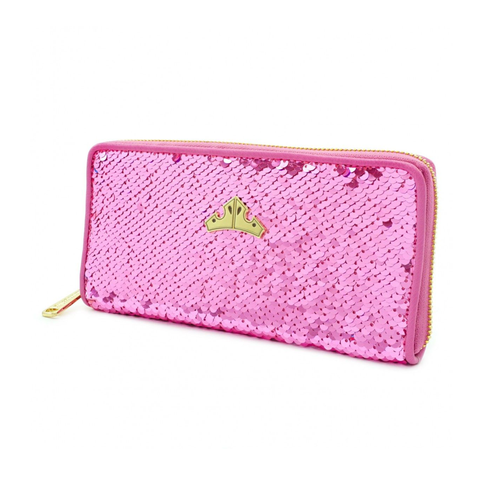 Loungefly x Disney Princess Sleeping Beauty Reversible Sequin Zip Purse