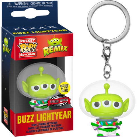 Toy Story - Alien Remix Buzz Lightyear Special Edition Glow in the Dark Pocket Pop! Vinyl Keychain