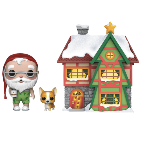 Peppermint Lane - Santas House & Nutmeg Pop! Town Vinyl Figure