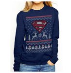 koolaz-ltd - Superman - Reindeer & Snowman Crewneck - Koolaz Ltd - Crewneck