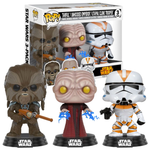 koolaz-ltd - Star Wars - Tarfful, Unhooded Emperor & Utapeau Clone Trooper Pop! Vinyl Figure 3-Pack - Funko - Pop Vinyl