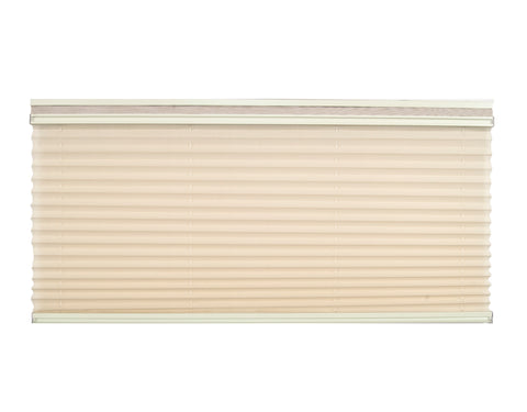 Pleated Day / Night Shade – Off White / Alabaster w/ Oyster Rail