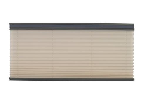 Pleated Day / Night Shade – Off White / Ash w/ Dusty Gray Rail