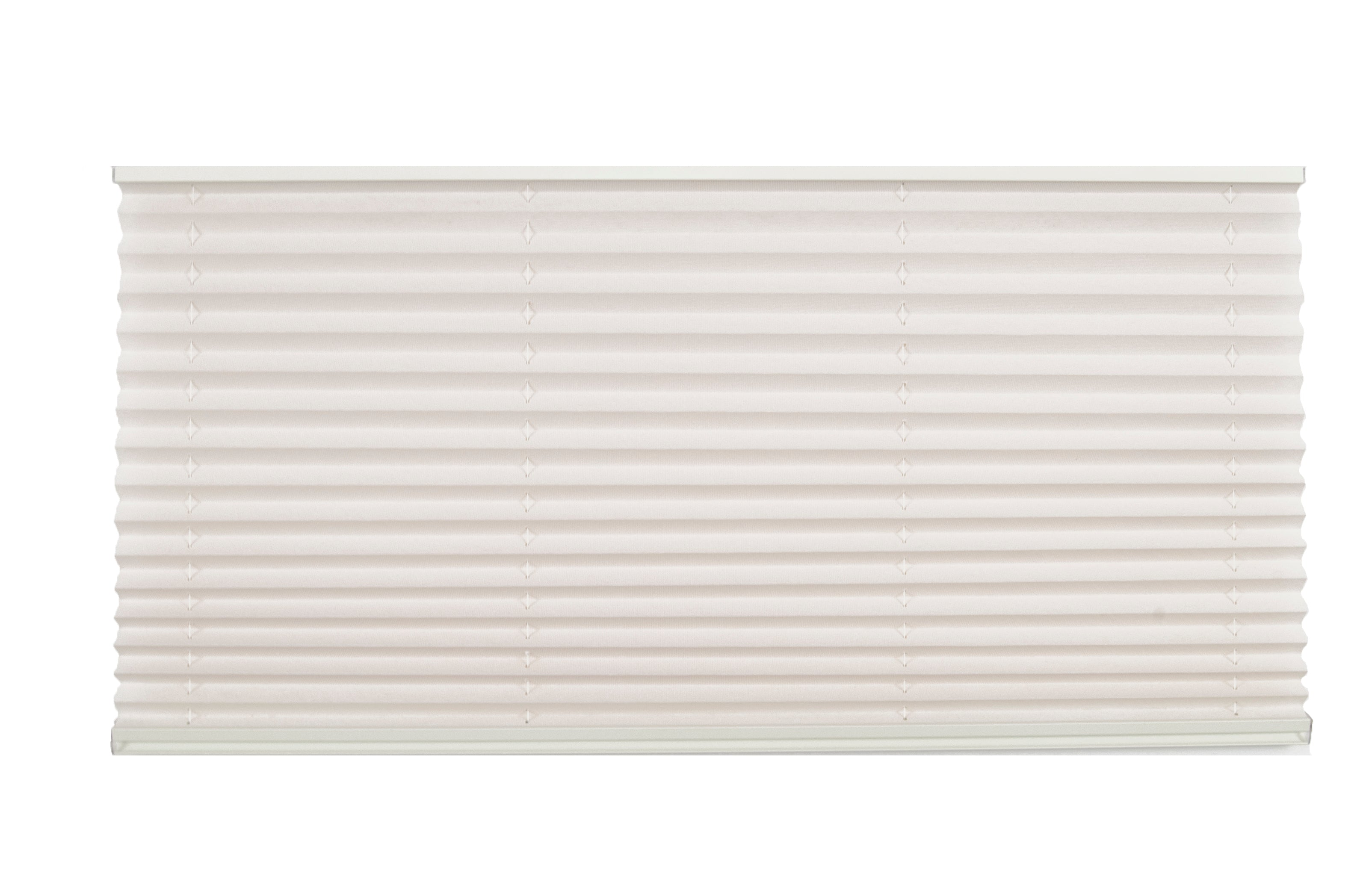 Pleated Night Shade – Alabaster w/ Oyster Rail