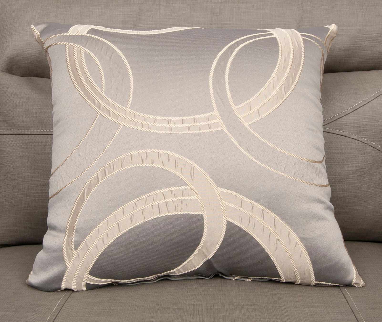 18 x 18 Luna Taupe Pillow