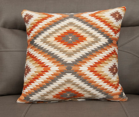 17 x 17 Peninsula Tangerine Pillow