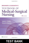 Brunner & Suddarth's Textbook of Medical Surgical Nursing 14th edition Hinkle, Cheever TEST BANK