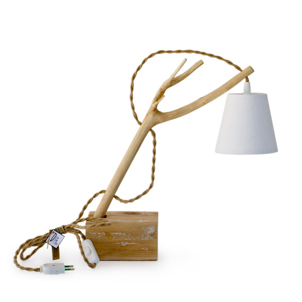Olive Wooden Table-Lamp.
