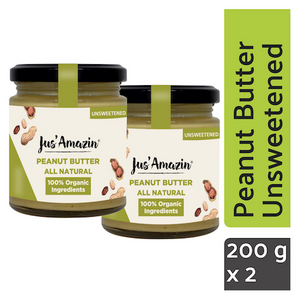 Best Peanut Butter India_ Unsweetened_Organic_Natural Foods Online_High Protein Foods_Vegan_Vegan Foods_Gluten Free Foods Online India_Vegan Nut Butter_JusAmazin_India_bangalore_Peanut Butter Online India