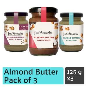 Cashew ButterAlmond Butter_ Unsweetened_High Protein Foods_ Vegan_Almond Butter India_Vegan Nut Butter_JusAmazin_India_bangalore