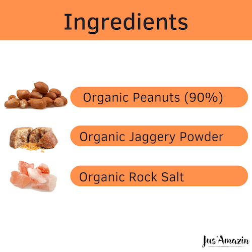 Load image into Gallery viewer, Best Peanut Butter India_Organic Jaggery_Organic_Natural Foods Online_High Protein Foods_Vegan_Vegan Foods_Gluten Free Foods Online India_Vegan Nut Butter_JusAmazin_India_bangalore_Peanut Butter Online India
