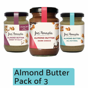 Cashew ButterAlmond Butter: Assorted - Pack of 3