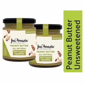 Organic Peanut Butter - Unsweetened (Pack of 2)