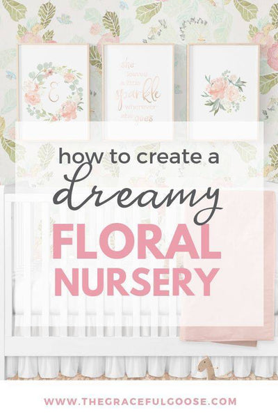 A dreamy floral room for your baby girl