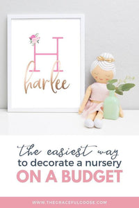 How to decorate a nursery on a tight budget