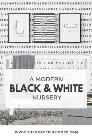 Modern Black and White Nursery